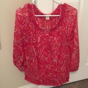 Animal print lucky brand blouse 🌸
